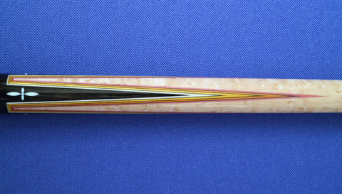 現代クラシックキューの蛍光色ベニヤを使った多層ハギ
