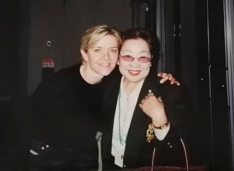 2001年、アリソン・フィッシャーとともに。Mieko Harada has passed away 9th Feb. 2021.