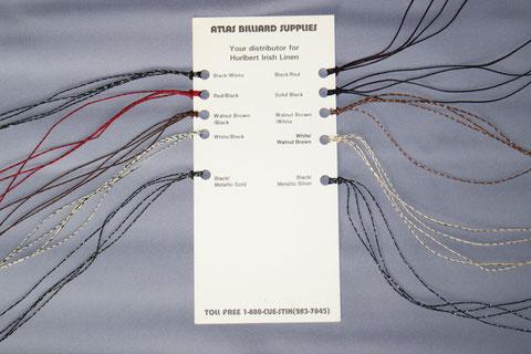 ハルバート社の糸のサンプル