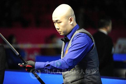 今大会優勝の楊帆(ヤン・ファン。中国)Chinese 8-Ball Masters © Sun Xiaoguang