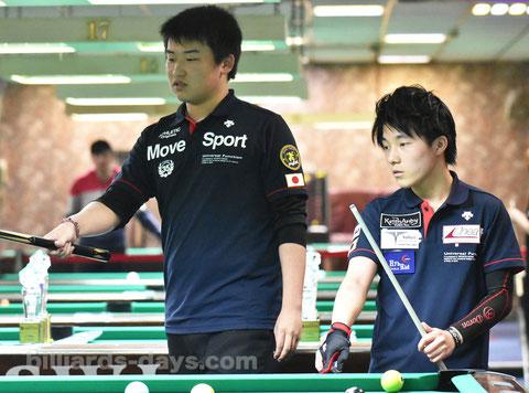 田中汰樹(左)&杉山功起(右)