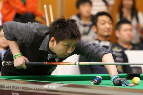 Naoyuki Oi talks about his 5th win of Hokuriku Open Photo courtesy of Akira Takata