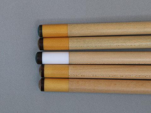 黄色味が強いイエローミカルタ(Micarta)製の先角