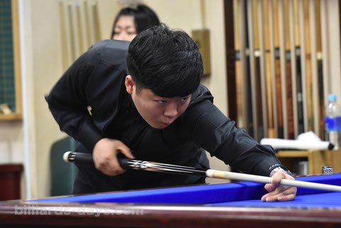 Korean 17-years-old player Cho Myung woo won 10th 3-cushion Yamani Cup in Tokyo