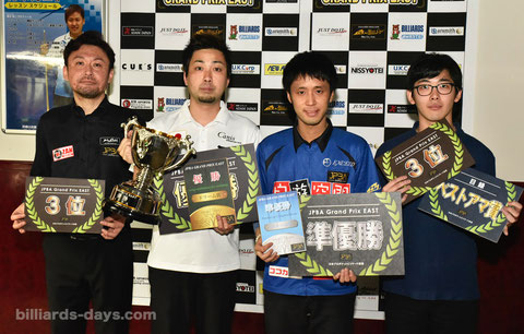 Naoyuki Oi (l2) won 2018 JPBA Grand Prix East stop#3.
