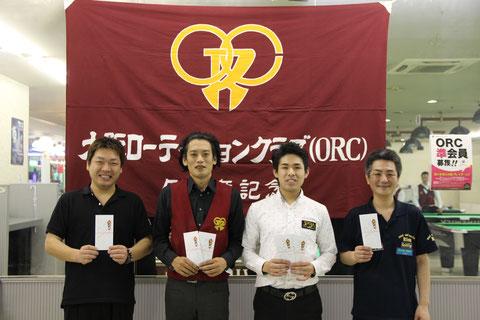 優勝の吉岡保俊選手は左2 写真提供:JAPA