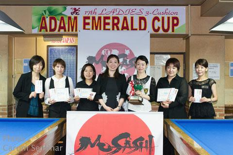 2016 Top finishers 2016年大会優勝は肥田緒里恵(右3)