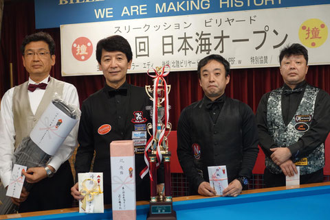 Tatsuo Arai won 2019 Nihonkai Open in Ishikawa Photo : Kei Ohnishi