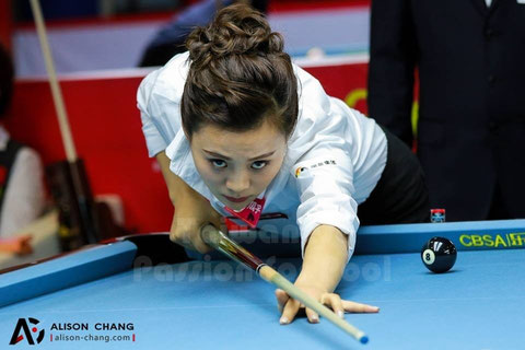 Liu Shasha wins World Ladies 9-Ball Championship. Photo courtesy of Alison Chang