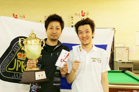 GPW-3優勝の大井直幸(左。Naoyuki Oi)、2位の原口俊行(Toshiyuki Haraguchi)