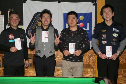 2019年GPW-1 in R.T.Bの覇者:飯間智也(左2)