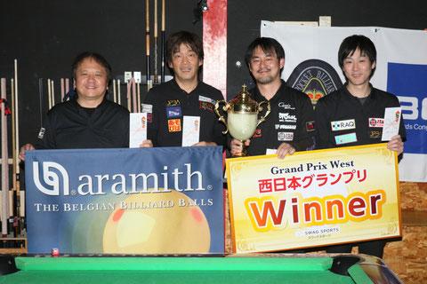 Hiroshi Takenaka (r2) won 2018 JPBA Grand Prix West stop#1 in Aichi.