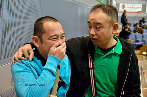 USTREAMで観ていた北谷好宏(右)が本人に事情を確認
