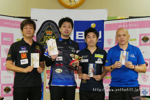 Naoyuki Oi (second from the left) won 2016 TOKAI Grand Prix, Aichi. Photo Courtesy of  On the hill !