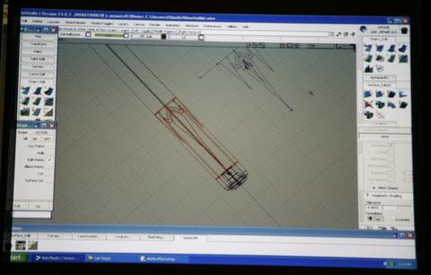 ICCSで公開されたコンピュータによるデザインの画面