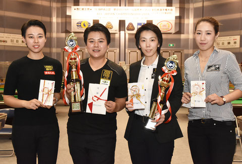 Chen Ho Yun (second from the right) won 2016 All Japan Championship