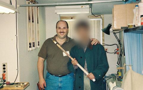 酔爺がバリー・ザンボッティの工房に初めて訪れた1997年3月の1枚。「懐かしい!」(酔爺)