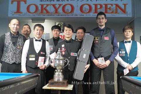※2020年3C東京オープンの上位入賞者。優勝は新井達雄(中央)