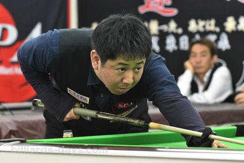 昨年の東日本代表・喜島安広。この後球聖位に
