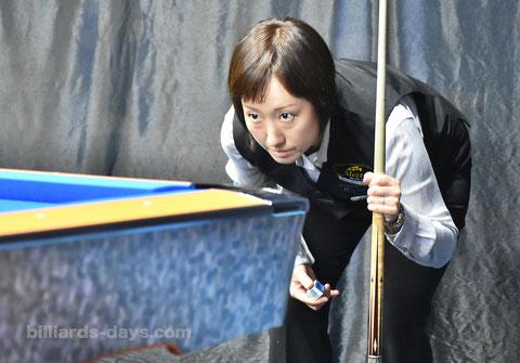 Miyuki Kuribayashi ※韓国グリ国際9ボールにて