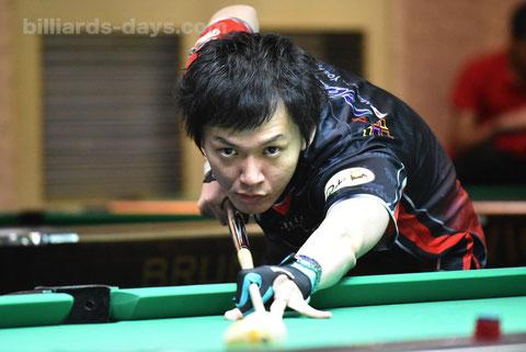 Masato Yoshioka ※5月の『アジア選手権』にて。キュー変更前