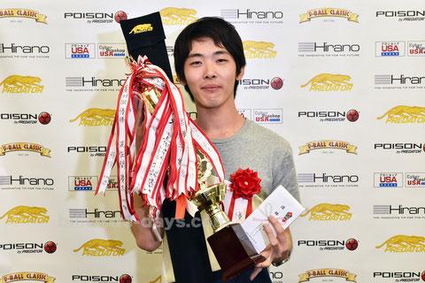 Shounosuke Komiya won Amateur 10-ball championship in Tokyo