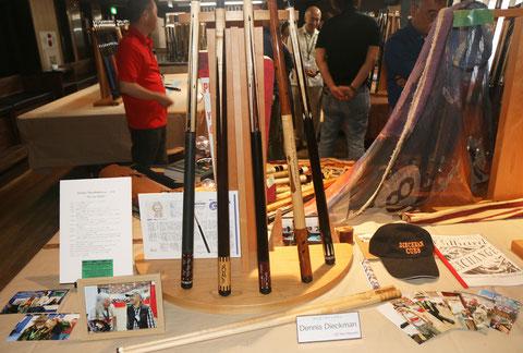 特別展示のディックマン追悼ブース