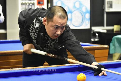 優勝:宮下崇生 Takao Miyashita won 67th All Kanto 3-cushion Championship in Tokyo. ※写真は今年のニッカオープンより