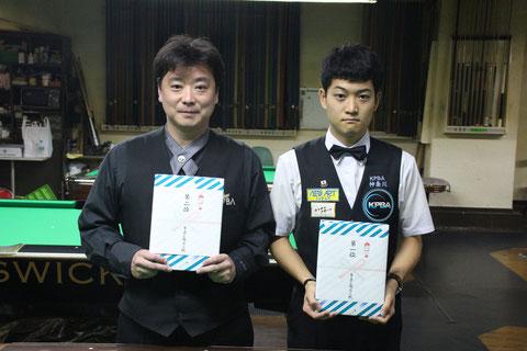 林武志(右)、A級戦勝利。2位は醍醐雅人。Photo : JAPA(以下全て)