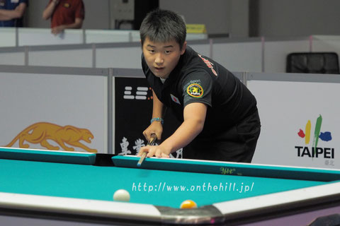 Taiki Tanaka from Japan won 2016 Asian 9-ball Championship Photo courtesy of  On the hill !
