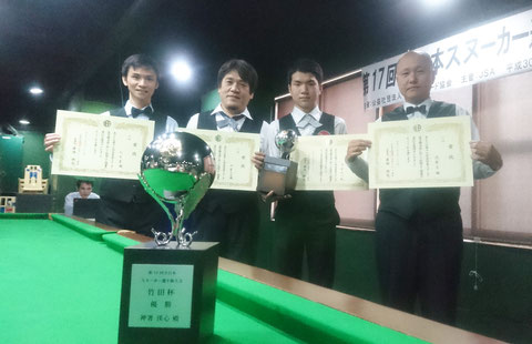 2018 All Japan Snooker Prize Winners