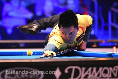 J・デルーナ ※写真は2019 US Open 9-Ballにて