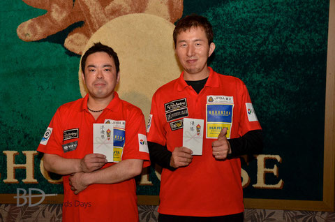 左から、2位及川、優勝鈴木
