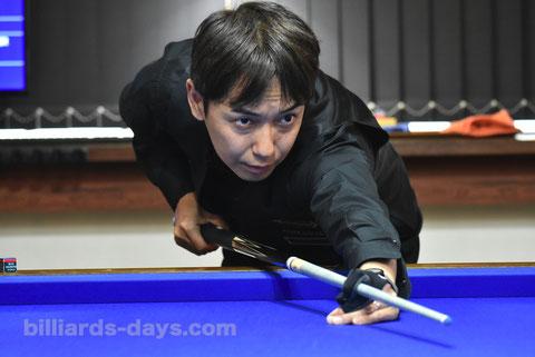 Nobuyasu Sakai won PRO 3-Cushion Tournament at GLANZ, Tokyo
