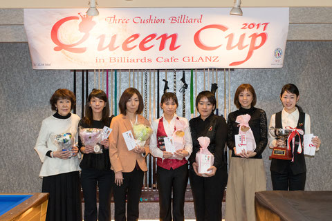 2017 Queen Cup出場の7名。Photo : Carom Seminar