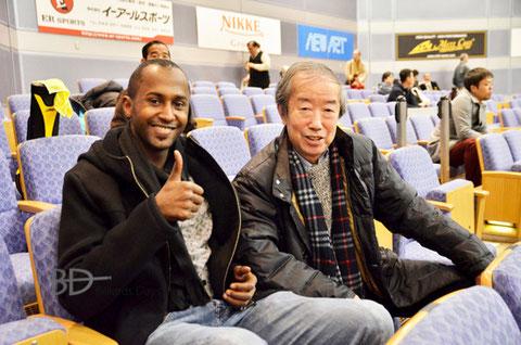 藤間一男氏(右) 昨年の全日本選手権にて