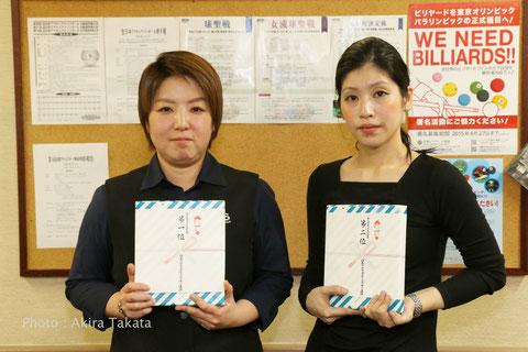 西日本代表になった松元選手(左)と堀内選手