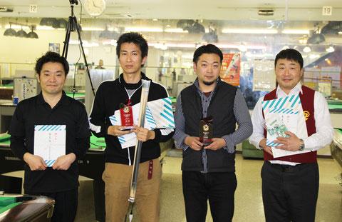 優勝の藤田選手は左2 写真:JAPA(以下同)