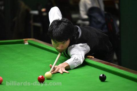 Keishin Kamihashi won 2018 All Japan Snooker ※写真は2017スヌーカージャパンオープンにて