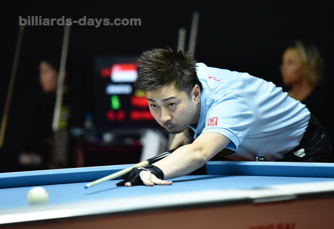 Naoyuki Oi won 2018 CBSA Beijing Miyun 9-Ball International Championship ※写真は2018 China Open