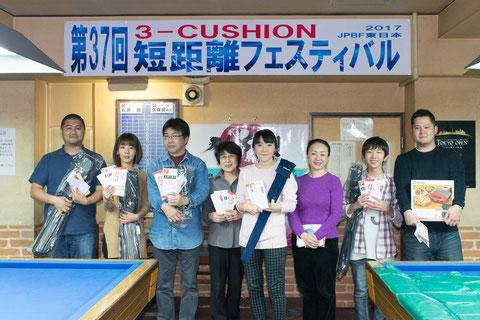 上位入賞者 3C短距離優勝の石井舞 Photo :  Carom Seminar