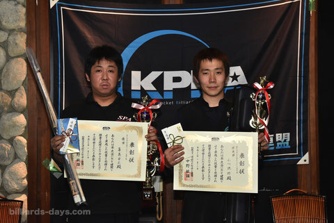 左:優勝/喜島安広 右:2位/小川徳郎