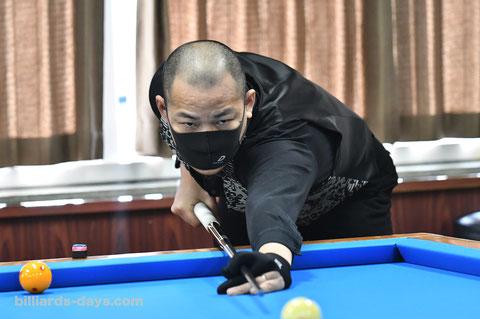 Takao Miyashita won 2020 All Japan Professional 3-cushion Championship, Adam Cup.