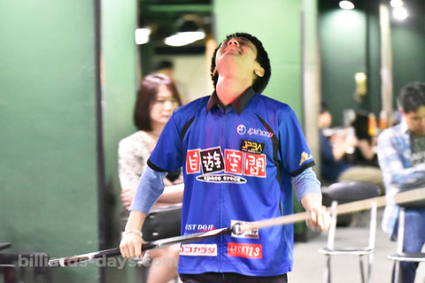 Hayato Hijikata won 2018 All Japan 14-1 (straight pool)