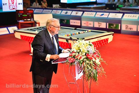 Ian Anderson WPA President ※写真は2018 China Openにて