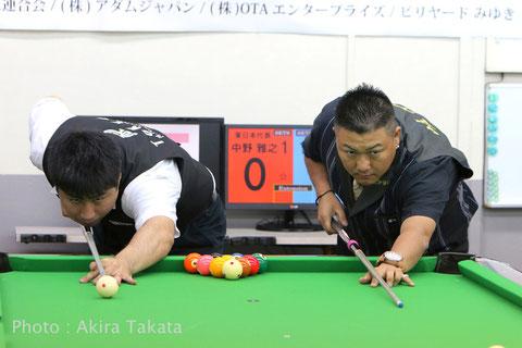 挑戦権を獲得した東日本代表・中野雅之(左。Masayuki Nakano)と、西日本代表の木村隼人(Hayato Kimura)