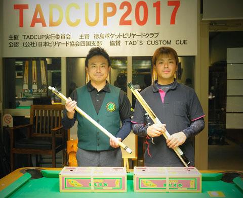 右:優勝の藤田選手