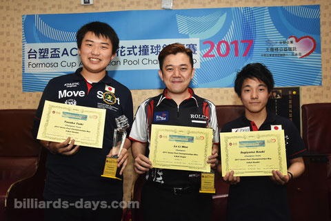 Japanese boys won Asian Junior 9-ball Doubles !