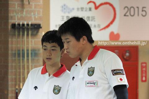 Takeshi Hayashi (Left) & Taiki Tanaka, in doubles match