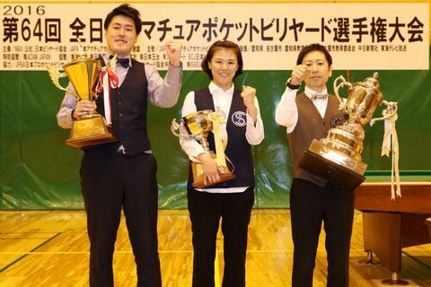 昨年(2016年)の各クラス優勝者